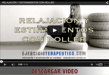 video relajación estiramientos roller ejercicio terapeutico 3