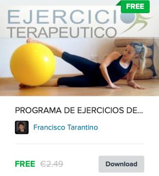 ejercicio terapéutico programa tonificación glúteos nivel medio
